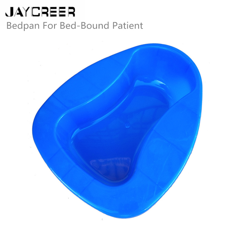 Mobilitätshilfen Erwachsenen Kommode blau Jaycreer Fest Starke Stabile Pp Bettpfanne Heavy Duty Glatte Countoured Für Bett-gebunden Patienten