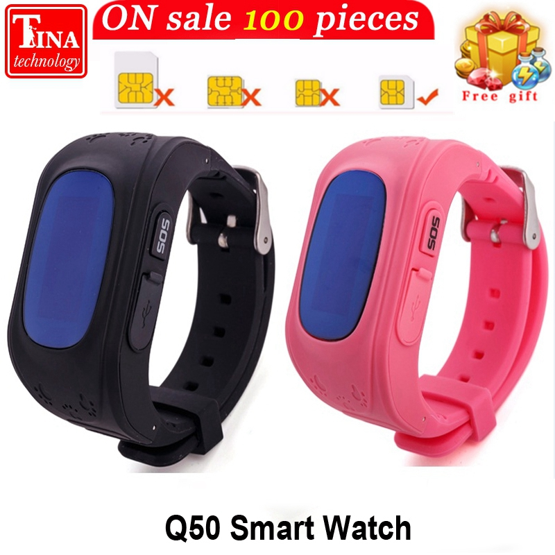 Q50 Écran OLED GPS Smart Kid Montre SOS Call Lieu Finder Locator Tracker pour Childreb Anti Perdu Moniteur Bébé Montre-Bracelet