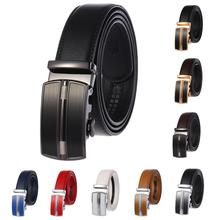 Brand Cow Leather Belt for Men Luxury Brand Fashion Automatic Buckle Male Belts Business Style Real Leather Belt for Men belts men 140cm 150cm 160cm 2017new fashion business casual male belt strong men best popular selling goods cool choice hot sale