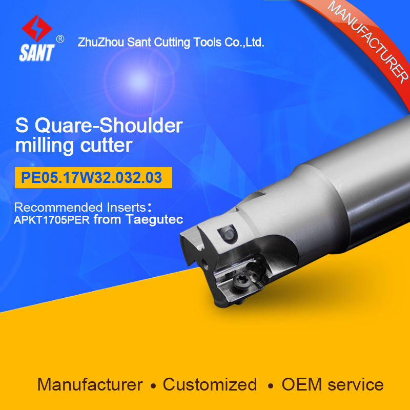 Customized size Square Should Milling Cutter Kr 90 PE05.17W32.032.03, with APKT1705PER insert  цены