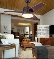 42inch living room dining room bedroom remote control ceiling fan lights ceiling fans with led American village fan light