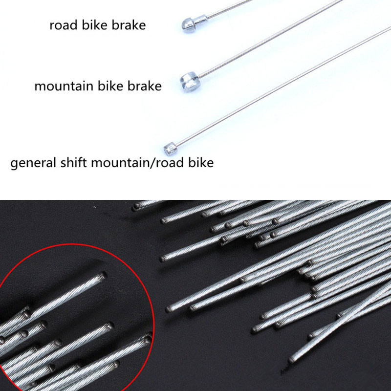 4 шт. оцинкованный сменный и тормозной внутренний кабель провода набор для MTB велосипеда дорожный велосипед передний задний переключатель т...
