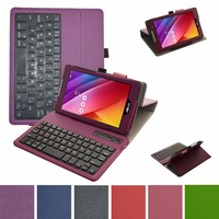 Removable Bluetooth Keyboard PU Leather Case Cover For 7 Asus ZenPad C 7 0 Z170C Z170CG