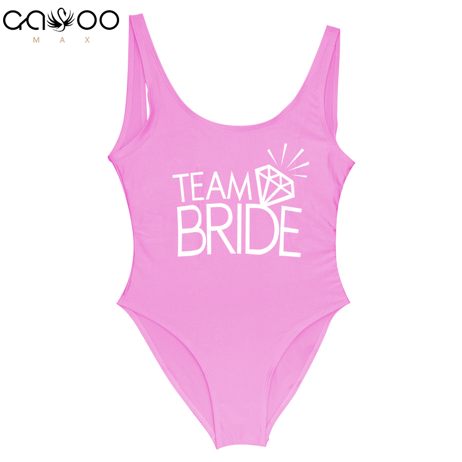 Team BRIDE Letter Print Diamond Pattern One Piece Swimsuit Women Swimwear Monokini Sexy Bodysuit Jumpsuit Bathing Suit Wedding led lamp with motion sensor 6 10 leds diode night light wireless pir lamp under cabinet lights for under kitchen cabinets