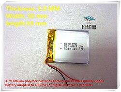 (Frete grátis) 3.7 V Bateria 053035 500 mah lithium-ion polímero bateria produtos de qualidade de autoridade de certificação CE FCC ROHS