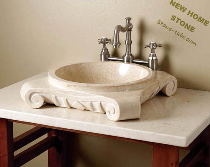 antiguos tocadores de bao de mrmol color beige talla encimera lavabos con pies de lavabo de piedra fabricante de encargo en lavabos de
