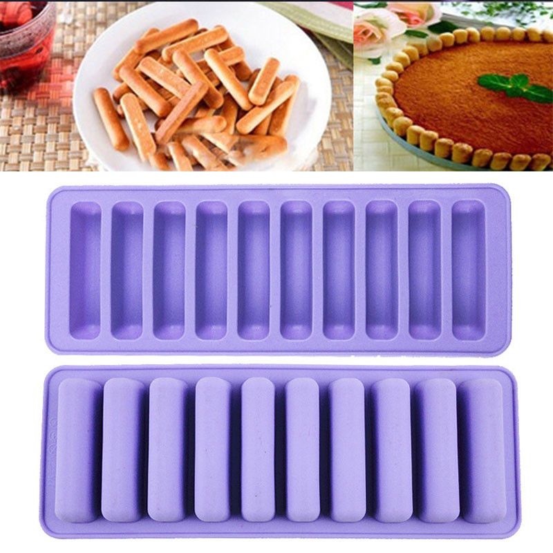 The Best Silicone Chocolate Mold Strip Shaped Silicone Ice Cube Tray Mold Ice Mould Ice Cream Makers Tools Kitchen Gadgets Bakeware