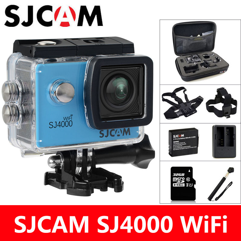 Action Camera SJCAM SJ4000 WiFi 2.0 inch LCD Screen Diving 30M Waterproof SJ 4000 1080P HD mini Camcorder Original Cam Sports DV