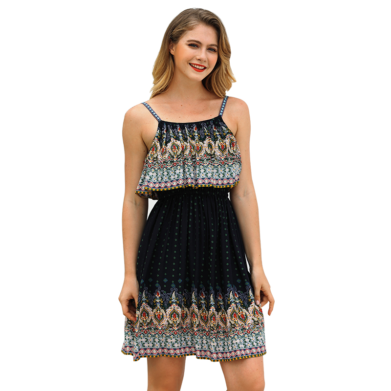 summer beach dress 2019 plus size clothing spaghetti strap cami ...