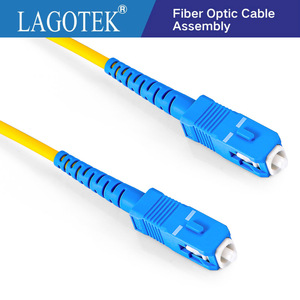 Image 1 - 10 Pcs SC UPC SC UPC Simplex 2.0 millimetri 3.0 millimetri PVC Singola Modalità di Fibra Patch Cavo di avviamento in fibra di patch cord in fibra optica FTTH 9/125