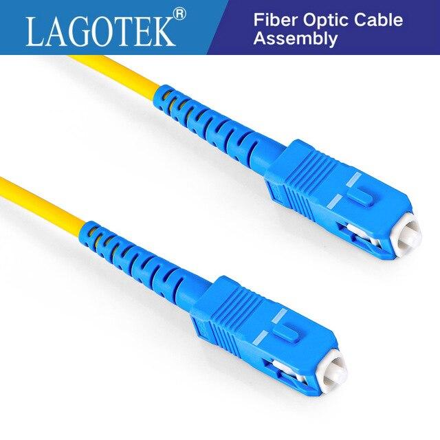 Cable de parche de fibra de PVC, 10 Uds., SC UPC a SC UPC Simplex 2,0mm 3,0mm, puente de fibra óptica FTTH 9/125
