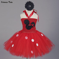 New Cartoon Minnie Tutu Dress For Kids Baby Girls Birthday Gift Christmas Halloween Cosplay Costume Pary