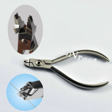 1 pc Dental Orthodontic Crimpable Hook Placement Pliers Tungsten Tool for Archwire Hook dental filament orthodontic wire bending pliers correction of bending clamp pliers with tungsten steel