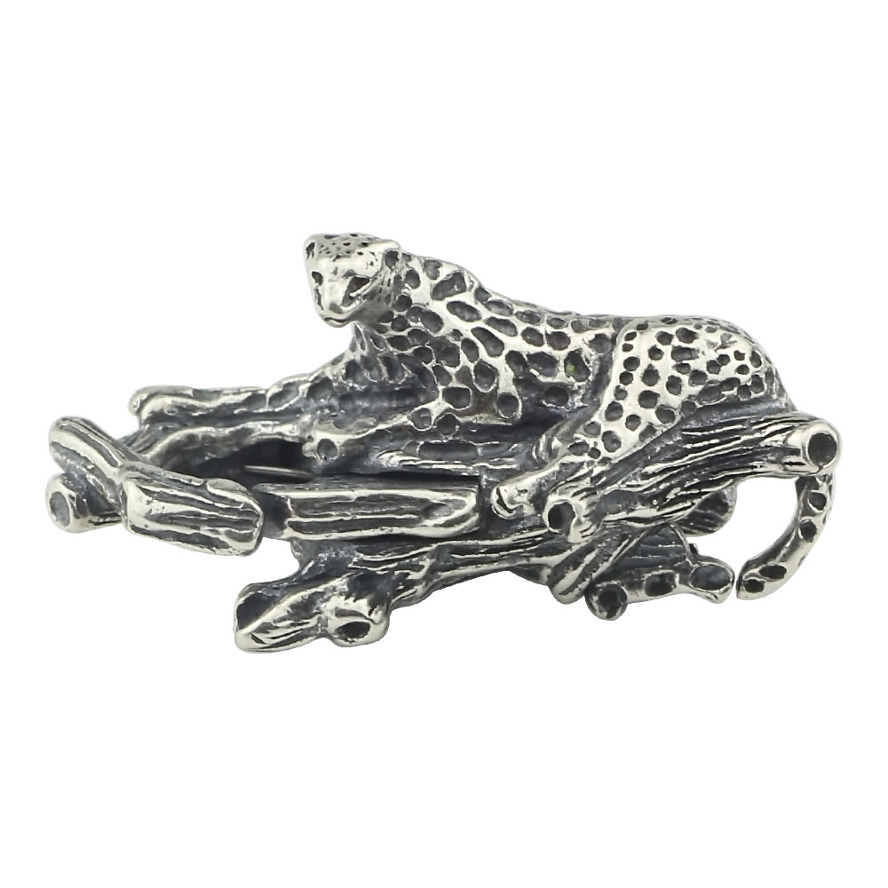 Authentic S925 Sterling silver leopard lobster lock Charms Fit European Brand Bracelet DIY Jewelry Making free