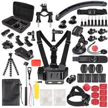 цены Sports Action Camera Accessory Kit for GoPro Hero6 5 Black, Hero 5 4 3 DBPOWER,AKASO,APEMAN,SJCAM,XIAO YI Sport Camera