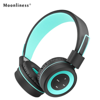 Moonliness Wireless Headphones Bluetooth Portable Headphone Stereo HIFI Headsets With MIC Play Music For Girls Auriculares