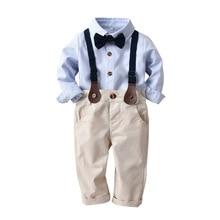Conjunto de Roupas crianças Crianças Bebê Menino Terno Cavalheiro Primavera  Outono Rosa Casamento Formal Gravata Colete Camisa P.. 0503ac82751