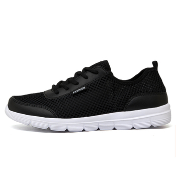 2018 Men Shoes Summer Sneakers Breathable Casual Shoes Couple Lover Fashion Lace up Mens Mesh Flats Shoe Big Plus Size 1