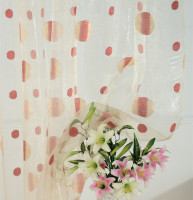 Free Shippin Circle Jacquard Organza Tulle Curtain Fabric For Window