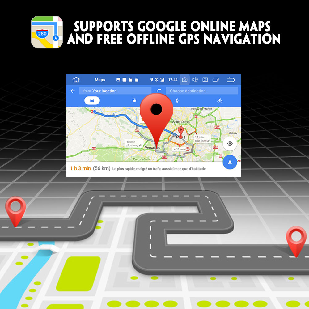 Autoradio GPS Android 8.0 DAB + WiFi 3G DVR GPS Radio RDS BT DVD USB SD lettore CD da Auto Per VW Bora Jetta T5 Polo Golf Sede Peugeot - 5