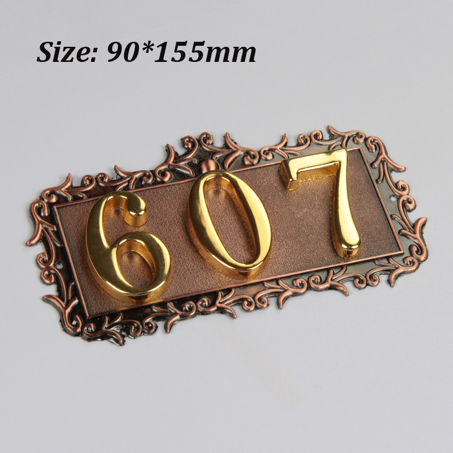 3 Digits European Style House Number High-grade 3D Digital Cards Gate Numbers Hotel Villa Apartment Door Plating Plate Signs New