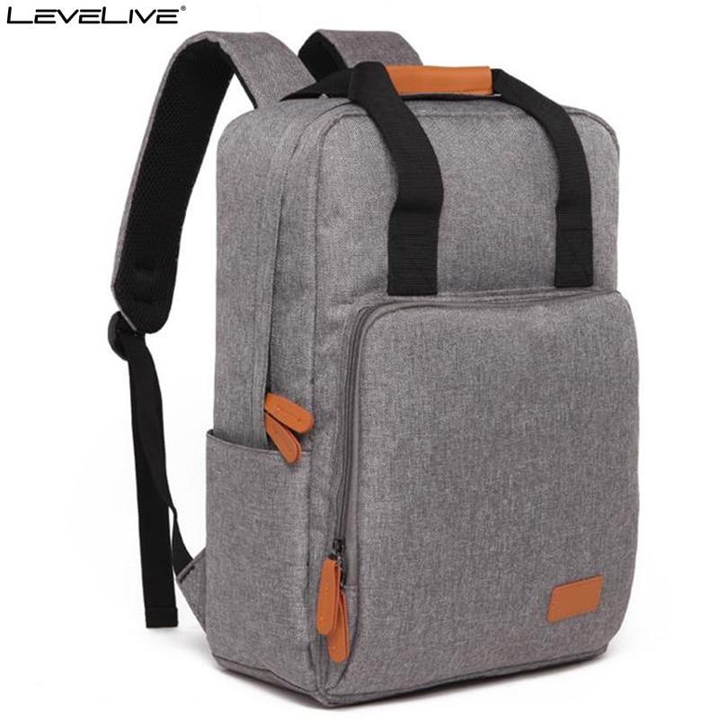 все цены на LeveLive 2018 Casual Backpack Men Women Rucksack 15