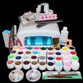 New Pro 36W UV GEL White Lamp & 36 Color UV Gel Nail Art Tools Sets Kits BTT-111 Free Shipping