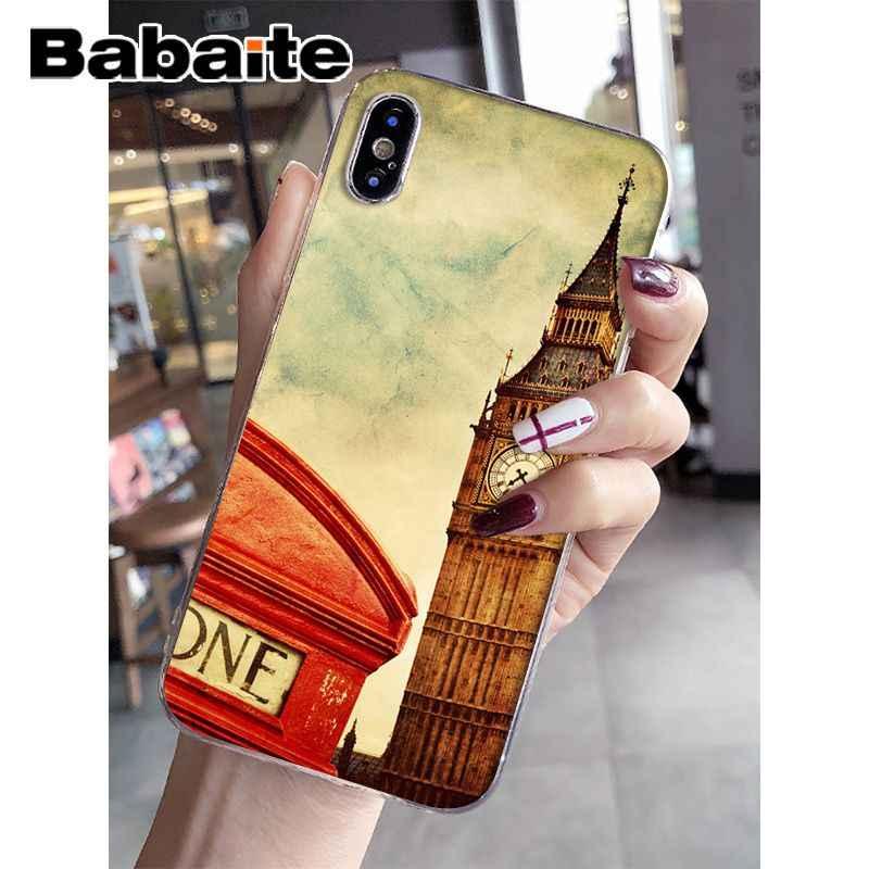Babaite London big ben Bus bridge TPU Soft Silicone Phone Case Cover for iPhone 6S 6plus 7 7plus 8 8Plus X Xs MAX 5 5S XR