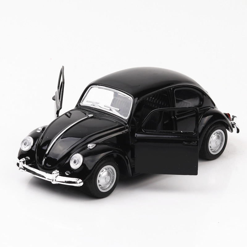 1/36 VW Beetle Classic Alloy Car Models Simulation Pull Back Metal Toys Vehicle Model For Baking Cake Decoration Toy For Gifts