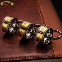 Upscale Car Titanium Steel Ring Keychain Auto Men Keyring Key Ring For Land Rover Nissan BMW