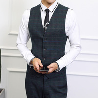 Plaid stripes vest men suit Asia size S 6XL mens vest Slim fit business vest waistcoat men