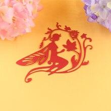 YLCD088 Flower Fairy Cutting Dies For Scrapbooking Stencils DIY Cards Album Decoration Embossing Folder Die Cutter Template Mold