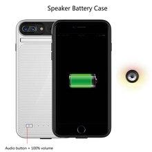 Новинка, 3 в 1, чехол с динамиком, аккумулятор для iphone 7 Plus, 8 Plus, Дополнительный внешний аккумулятор, зарядное устройство, кино, музыка, звук, чехол для телефона, для i6, 6 S, 7, 8