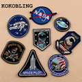 8pcs/set NASA Patch Space Center Uniform Clothing Polo Jacket Shirt Embroidered Iron on Sew on patches