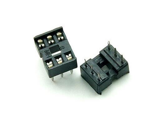 80PCS/Lot 6 Pin DIP Square Hole IC Sockets Adapter 6Pin Pitch 2.54mm Connector Resistor