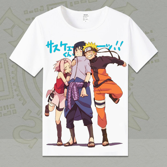 Naruto Short Sleeve O-neck Cotton T-shirt