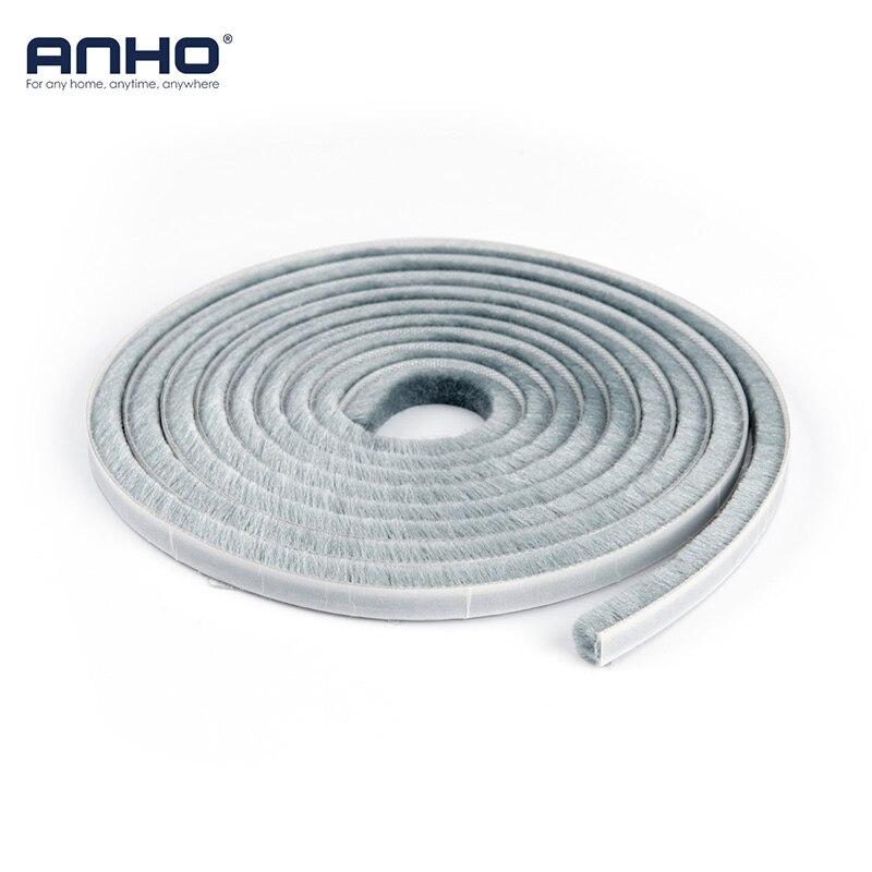 3M/5M Self Adhesive Window Sealing Tape Dust Proof DIY Cut Door Brush Weather Strip Flexible Gray Hardware Accessories soccer-specific stadium