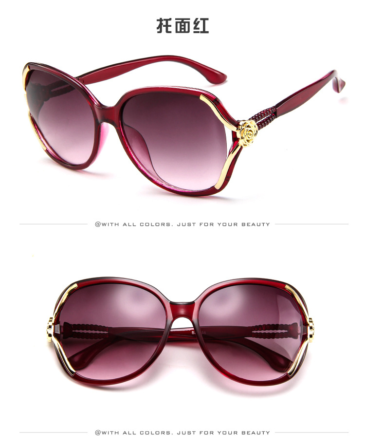 Vintage Sunglasses Women Flower Decoration High Qualty Oversize Eye Sun Glasses Shade for Women 2018 Big Frame Lady Fashion in Women 39 s Sunglasses from Apparel Accessories