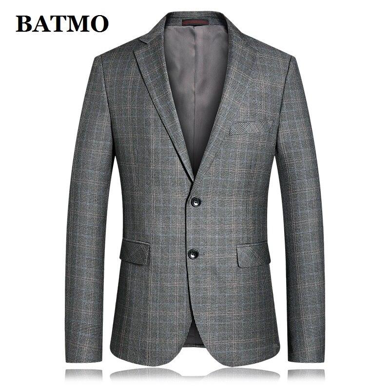BATMO 2019 nouveauté printemps haute qualité plaid blazers occasionnels hommes, hommes costumes hommes, vestes décontractée hommes, plus-taille 1909