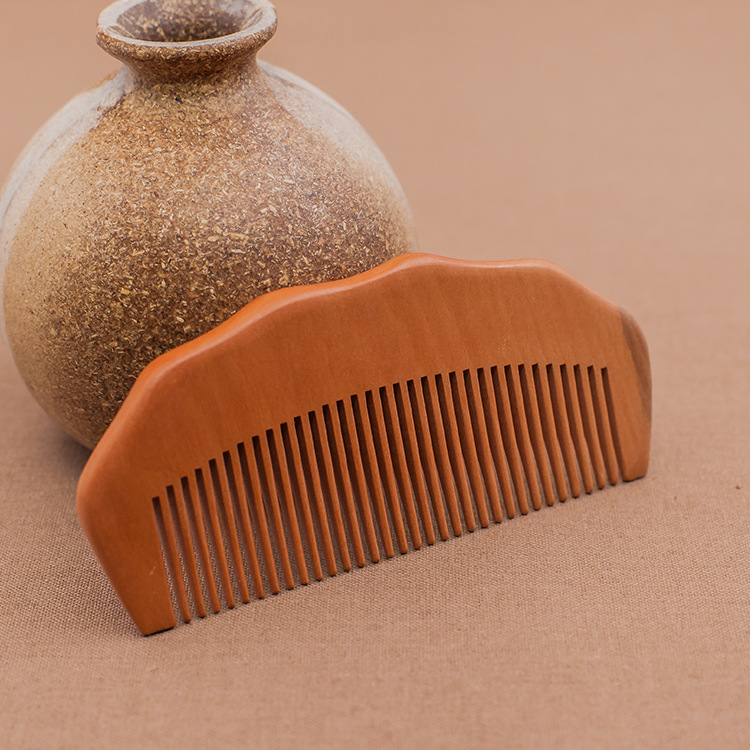 C11 Fine Wooden Combs Peach Wood Comb Sandalwood Combs Antistatic Massage Wooden Combs green sandalwood combed wooden head neck mammary gland meridian lymphatic massage comb wide teeth comb