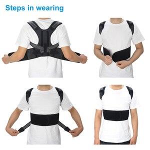 Image 2 - Aptoco postura correttore Brace spalla posteriore supporto cintura per bretelle Unisex e supporti cintura spalla postura Dropshipping