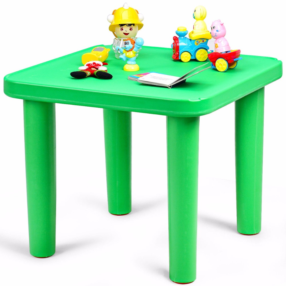 Giantex Kids Portable Plastic 24 Square Table Play&Learn Activity School Home Green New Modern Childrens Furniture TY325131Giantex Kids Portable Plastic 24 Square Table Play&Learn Activity School Home Green New Modern Childrens Furniture TY325131