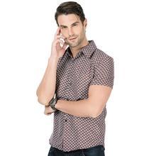 Floral Mens dress Shirts Casual Short sleeves New model Social Hawaiian style Slim Blouse clothing
