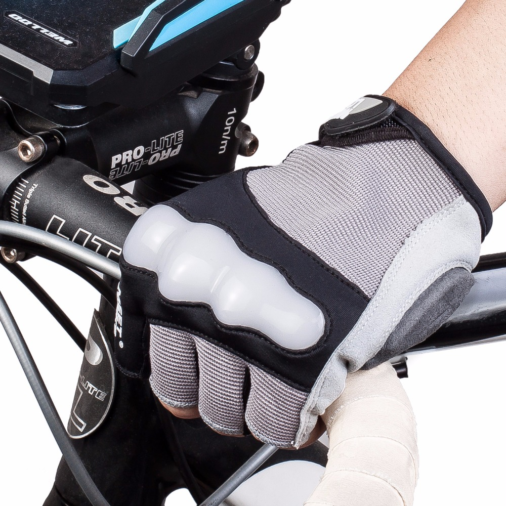 MEETLOCKS Bike Gloves For Men Shockproof Breathable Silicone Cycling Gloves Half Finger Sports Gloves Color Gray Size L-XL-XXL qepae 043a outdoor cycling half finger gloves black red l pair