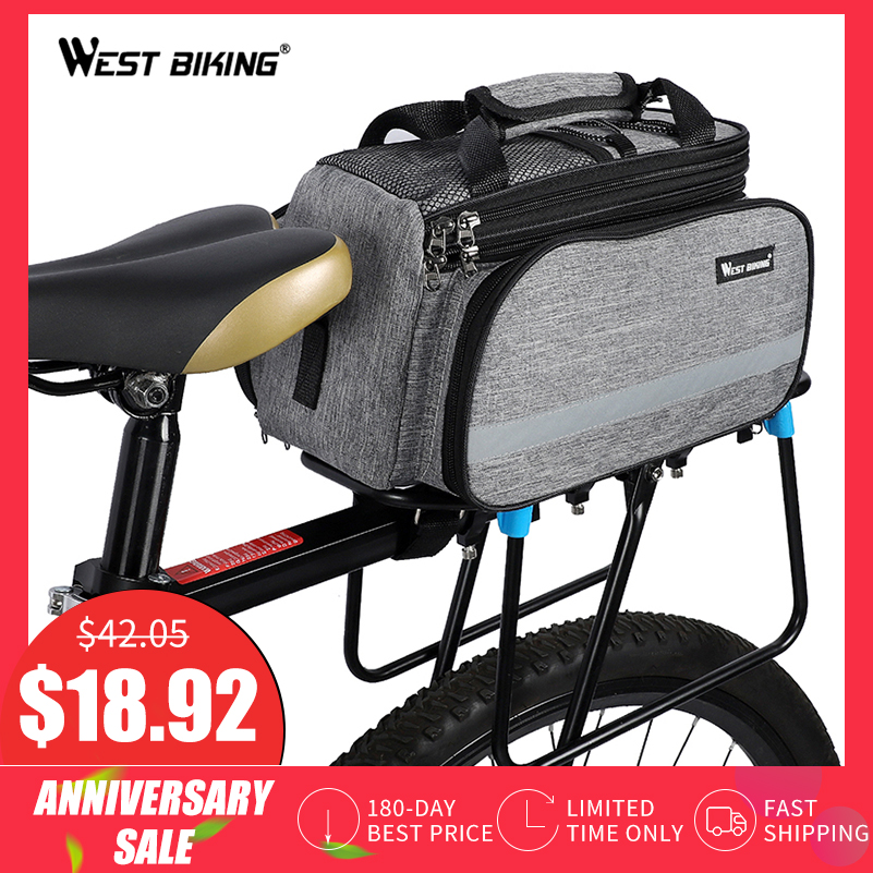 Roswheel 13l Bicycle Rear Rack Shelf Bag Pannier Pack Shoulder Handbag Volume Large Sports & Entertainment