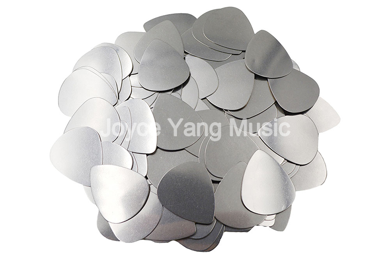 Niko 100pcs No Logo Printing Standard Shape Heavy 0.3mm Stainless Steel Metal Electric Guitar Bass Picks Plectrums