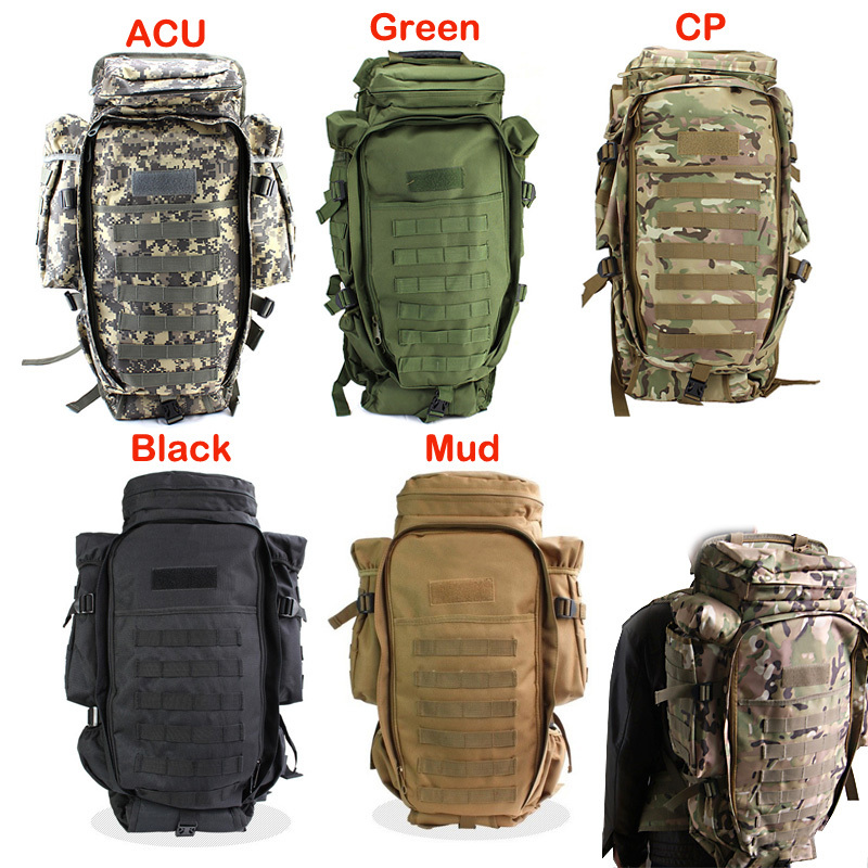 Military USMC Army Tactical Molle Hiking Hunting Camping Rifle Backpack