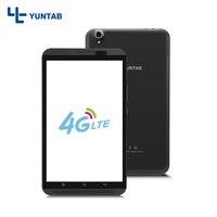 חם!! Yuntab 8 אינץ מסך מגע אנדרואיד 7.0 Tablet PC הסלולר 4 גרם H8 800*1280 Quad-Core עם מצלמה כפולה (שחור)