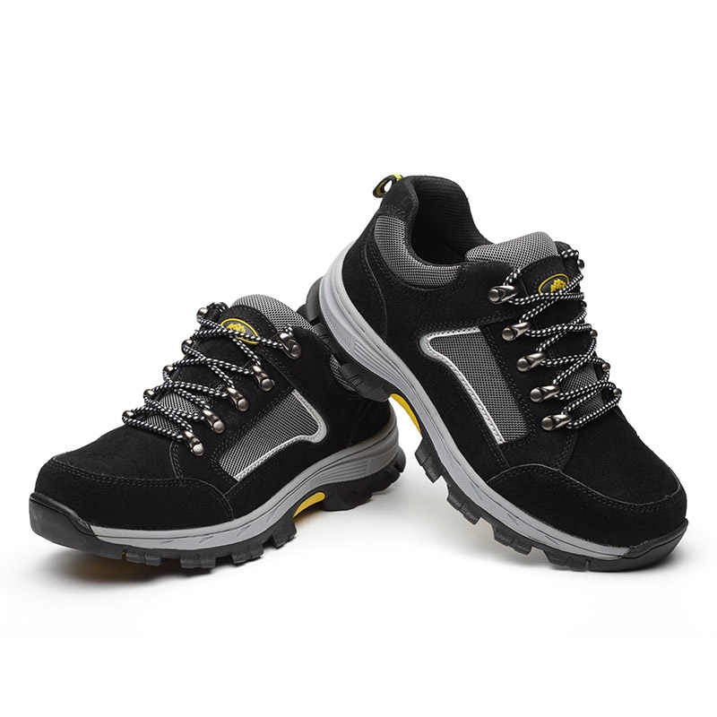 ROXDIA marka artı boyutu 39-48 kadın erkek çalışma ve güvenlik botları hakiki deri çelik toecap darbeye dayanıklı adam bayan ayakkabıları RXM114
