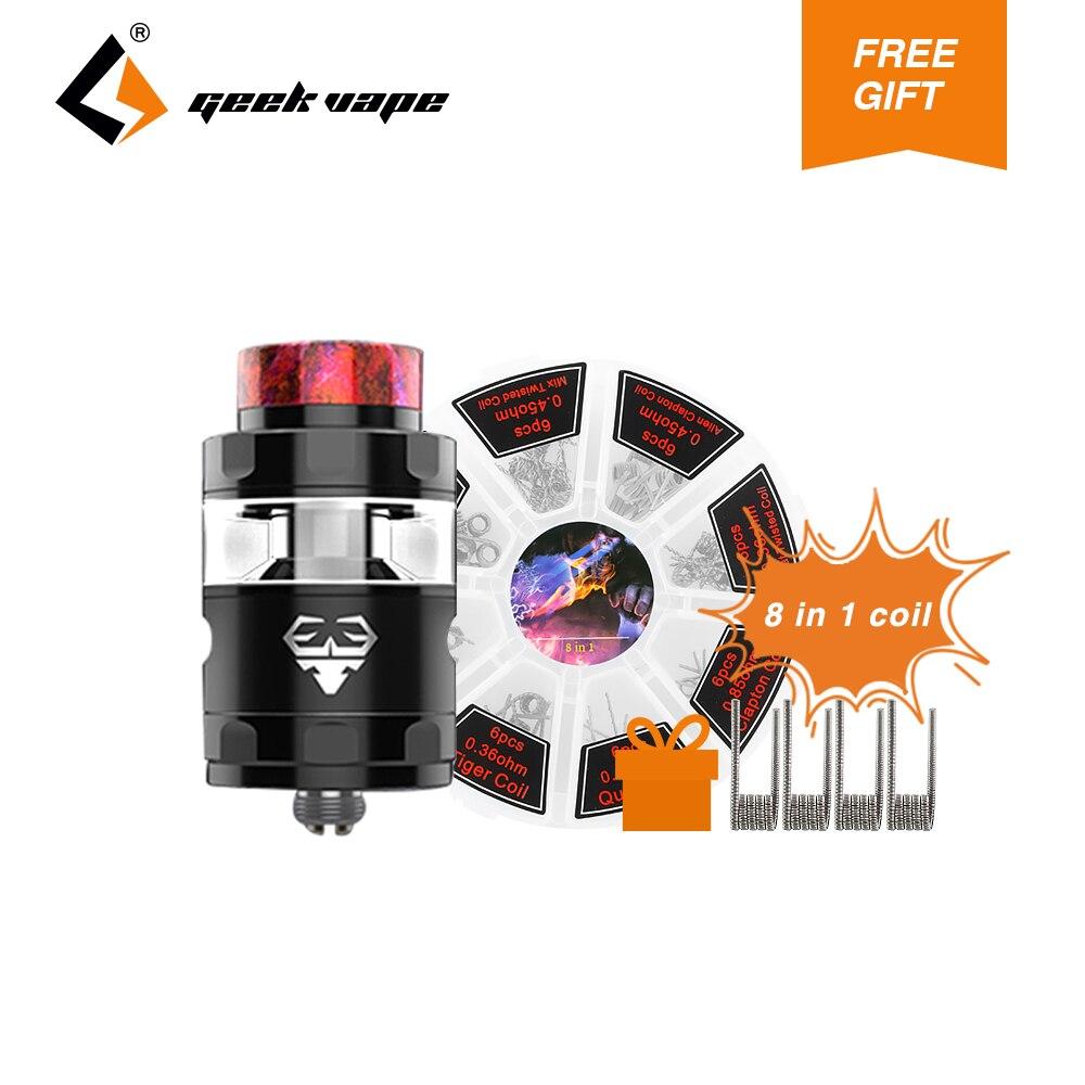Originale GeekVape Blitzen RTA Atomizzatore 2 ml/5 m Capacità 24mm Diametro Serbatoio Supporto Dual & Single Coil per cigs e Box Mod